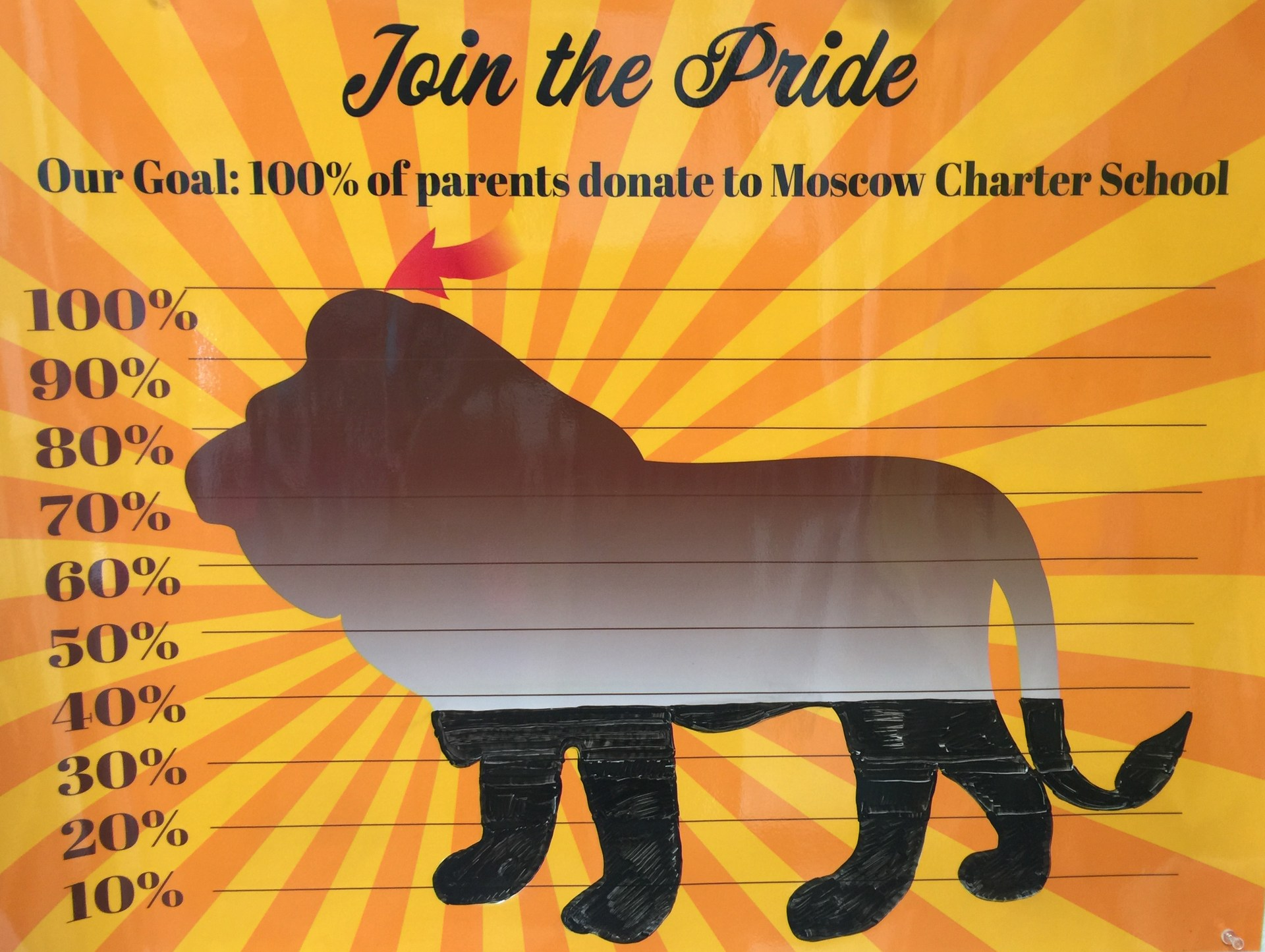 Moscow Charter School Lion's Pride Donation Poster