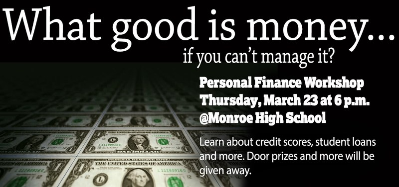 Personal Finance Workshop to be held at Monroe Thumbnail Image