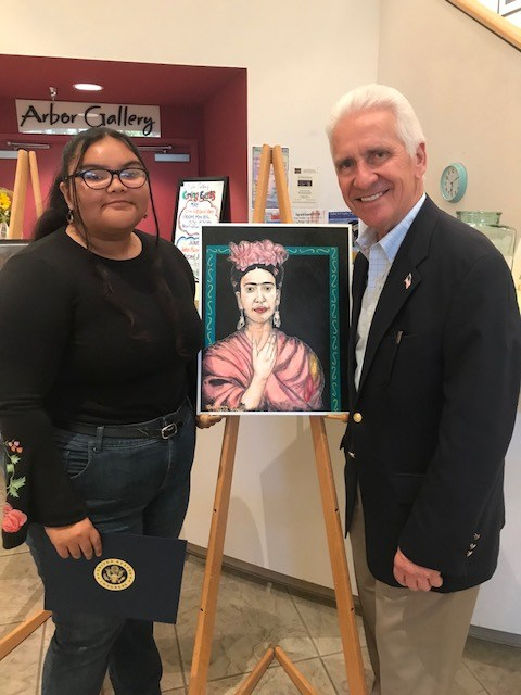 Guilli Angulo Receives Congressional Art Competition Award