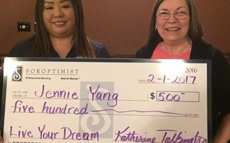 VN grad Jenni Yang receiving soroptomist scholarship