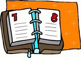 desk calendar open