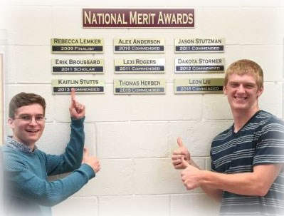 2 National Merit students