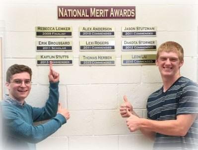 2 National Merit students