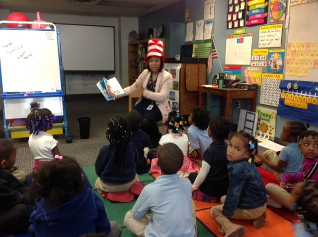 CEO reading to PreK, Old North, Read Across America Day