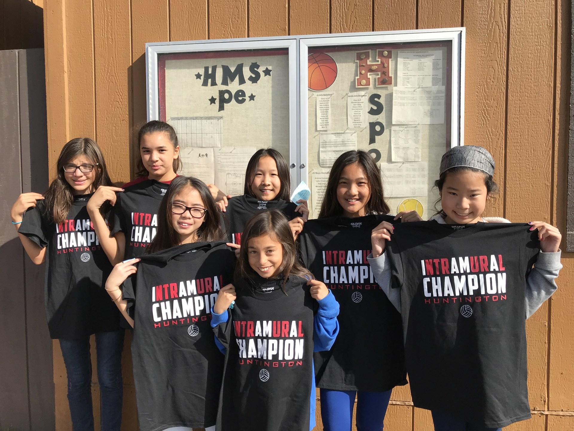 Intramural Volleyball Champions - Beginner/Intermediate