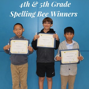 4th & 5th grade Spelling Bee Winners
