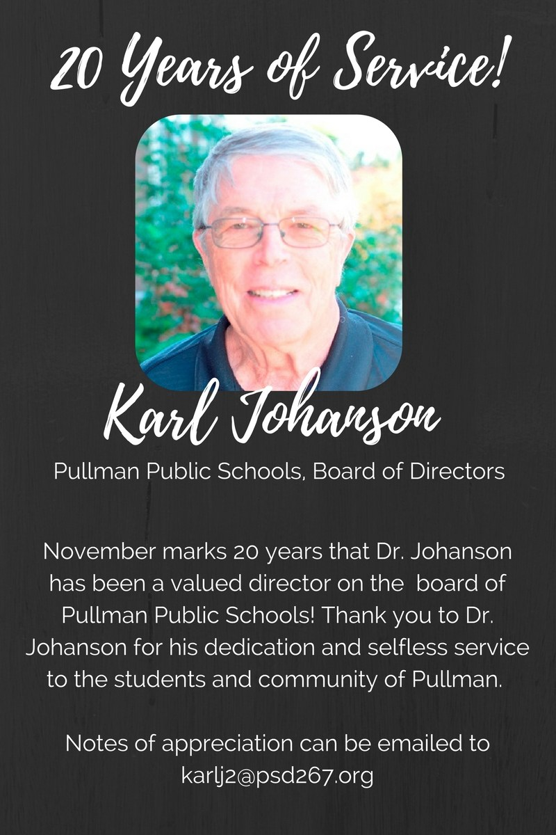 20 Years of Board Service! Thank you, Dr. Johanson! Thumbnail Image
