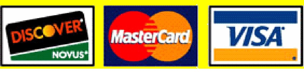 Visa, Master Card and Discover