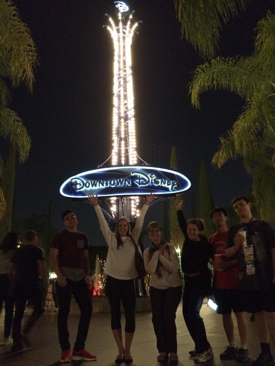 Picture of group at Downtown Disney