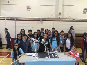 Students gather together on Math Field Day