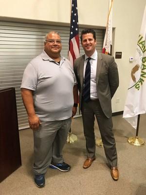 Eric Ortega and Superintendent Jones
