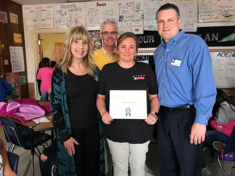 Mrs. Baxter wins CAT award!