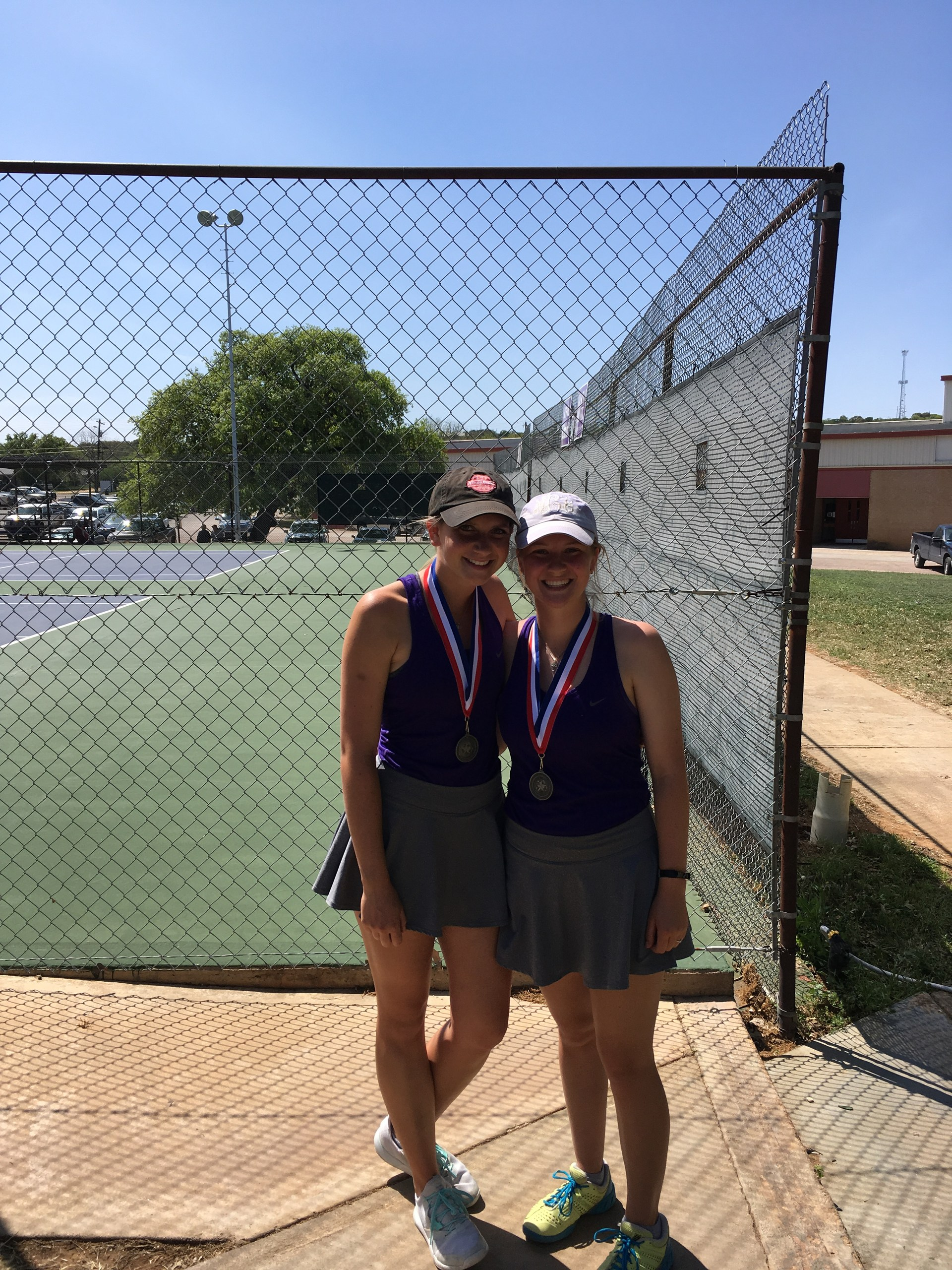 Molly Schwertner & Megan Canfield - Varsity Girls Doubles 2nd place
