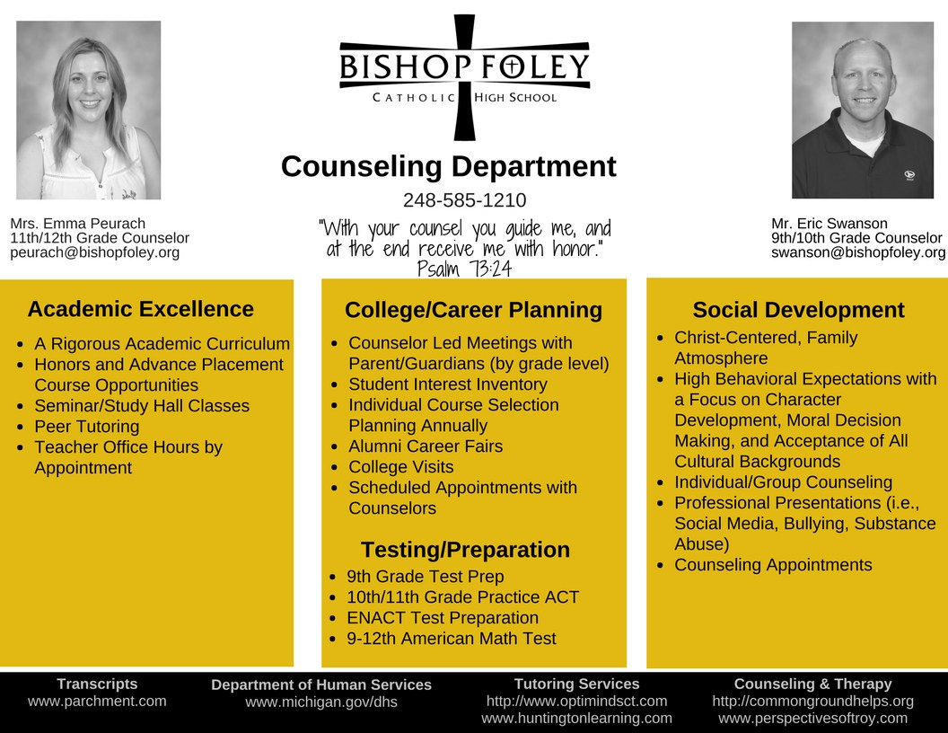 Counseling Department Brochure