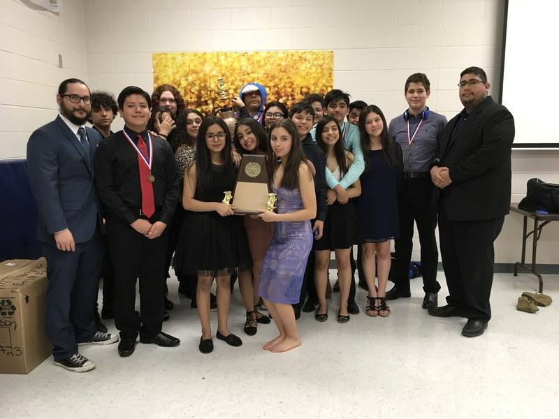 A HUGE CONGRATULATIONS is in order for our ECC Theatre Arts group for Placing 1st at Friday's UIL One-Act Play. Thumbnail Image