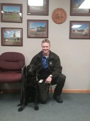 Officer Hebb and K-9 Buc