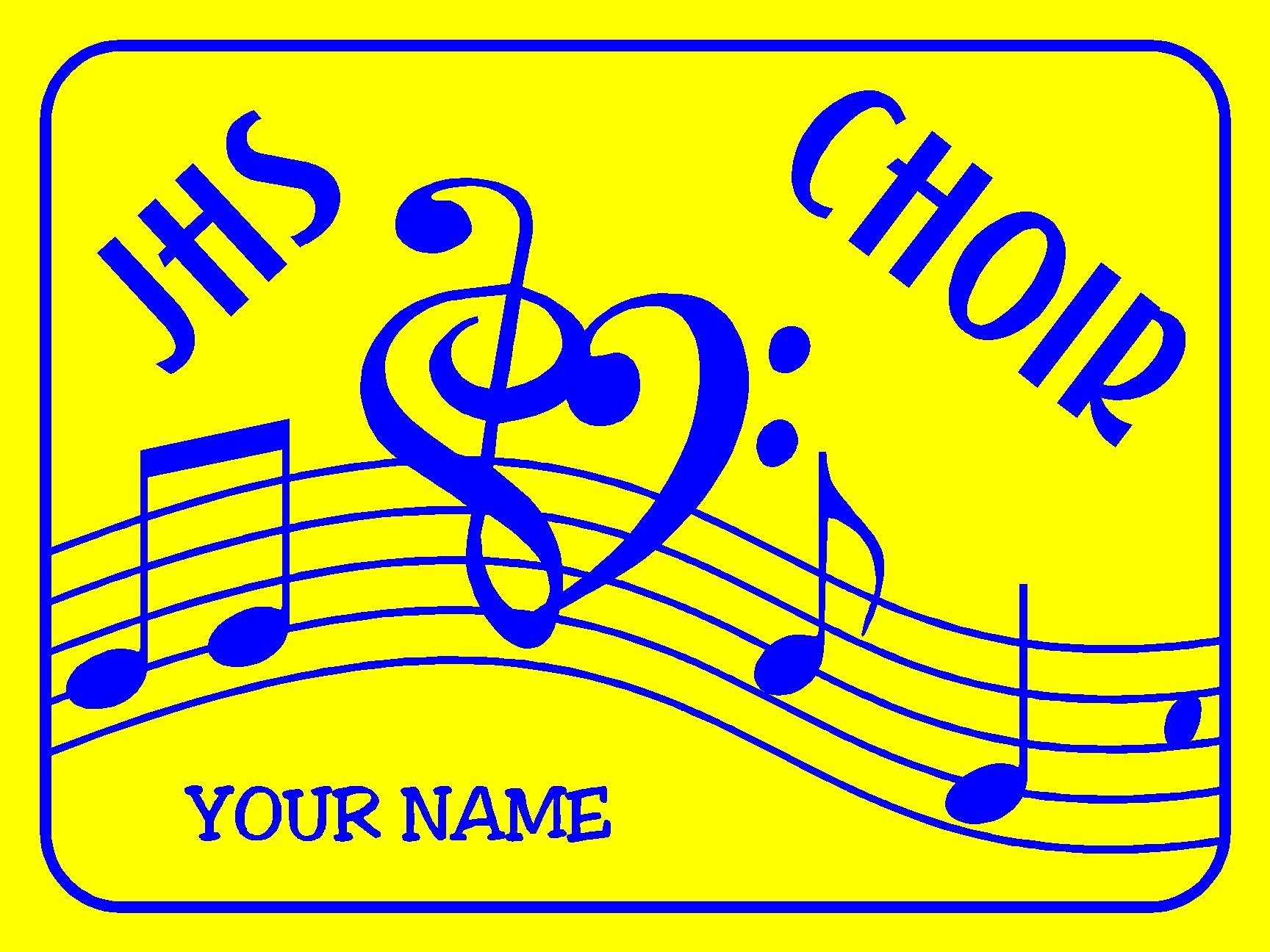 Choir Yard Sign