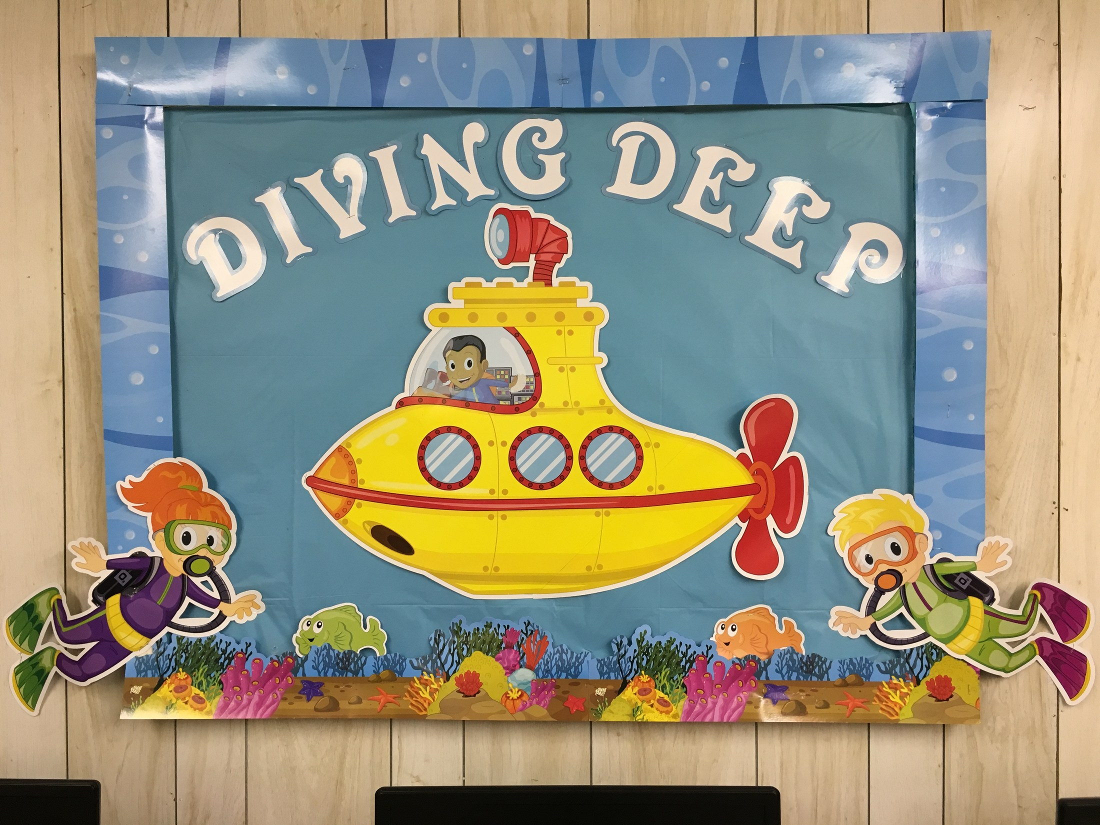Diving Deep bulletin board