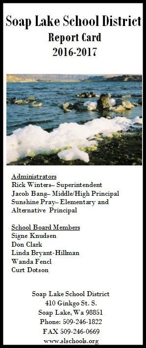 2016-17 Soap Lake School District Report Card (click here) Thumbnail Image
