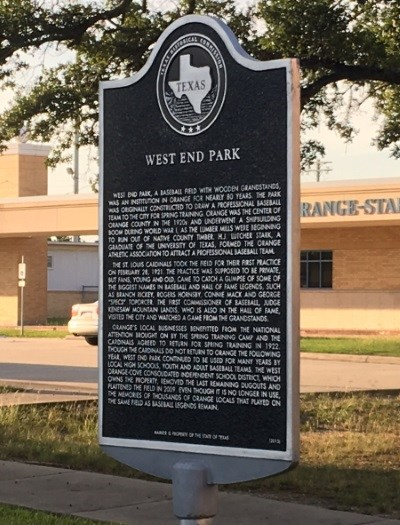 Historical Marker in front of the Middle School