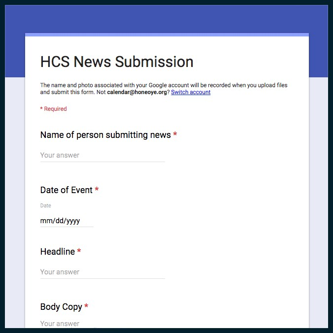 HCS News submission