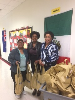 Ms. Sandra Johnson and Ms. Dusty Harrell (SCMBC), coordinators of backpack buddies nutritional assistance