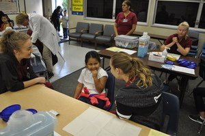 Vineland Elementary Students smiled, grimaced, laughed and cried as they received free flu vaccines on Thursday as part of a series of clinics this week sponsored by Kaiser Permanente Medical Center. The final flu shot clinics will be offered at Geddes and Pleasant View elementary schools on Friday, Oct. 13.