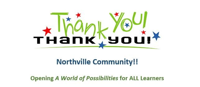 Thank you Northville Community