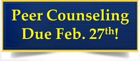 Peer Counseling Application - Due Feb. 27th! Thumbnail Image
