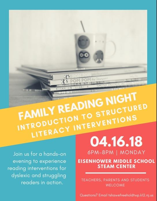 Family Reading Night - Monday, April 16th! Thumbnail Image