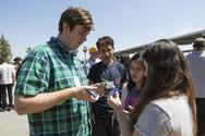 Solar Academy students work on solar powered fan