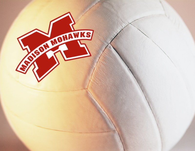 volleyball with Madison logo
