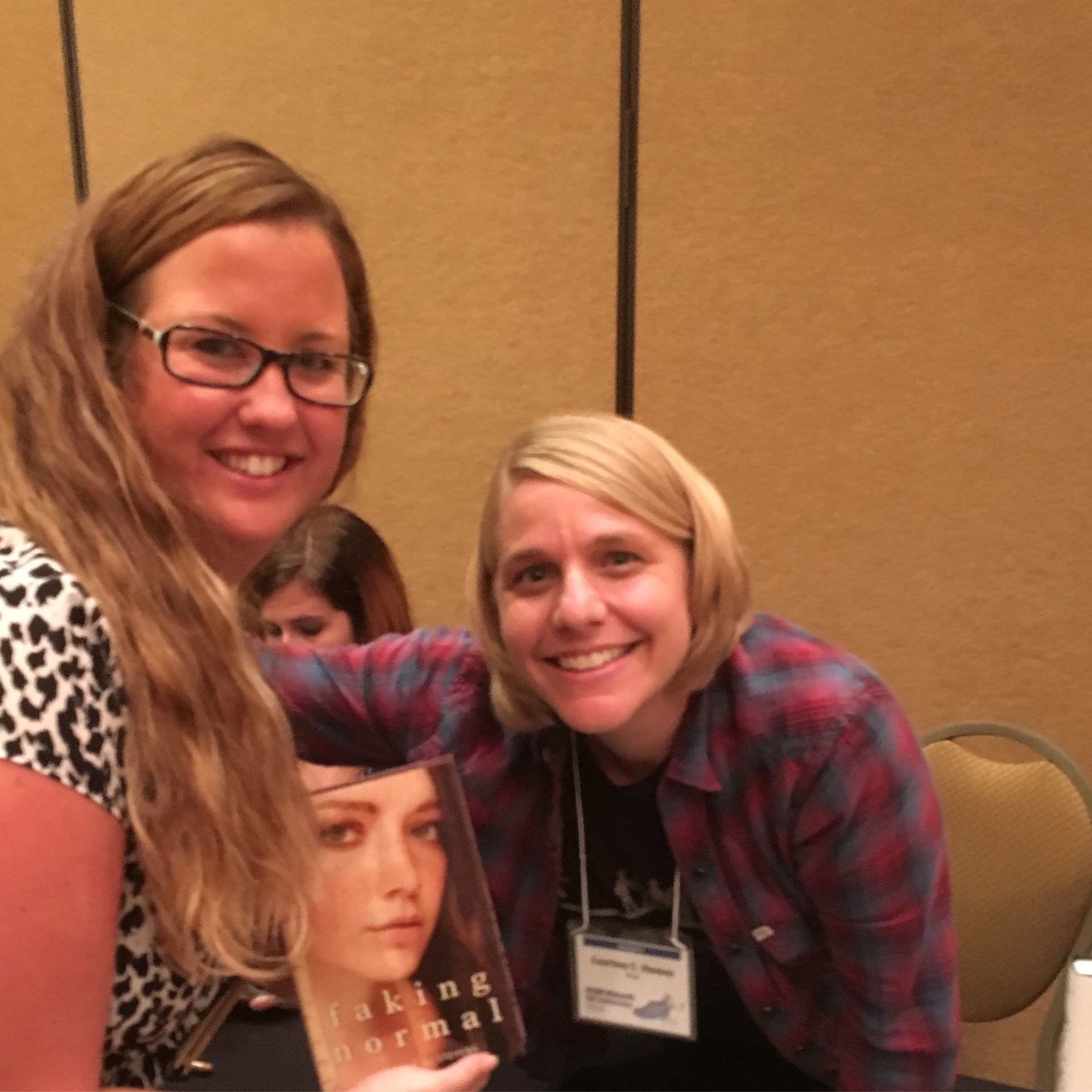 Ms. Rein with author Courtney Stevens