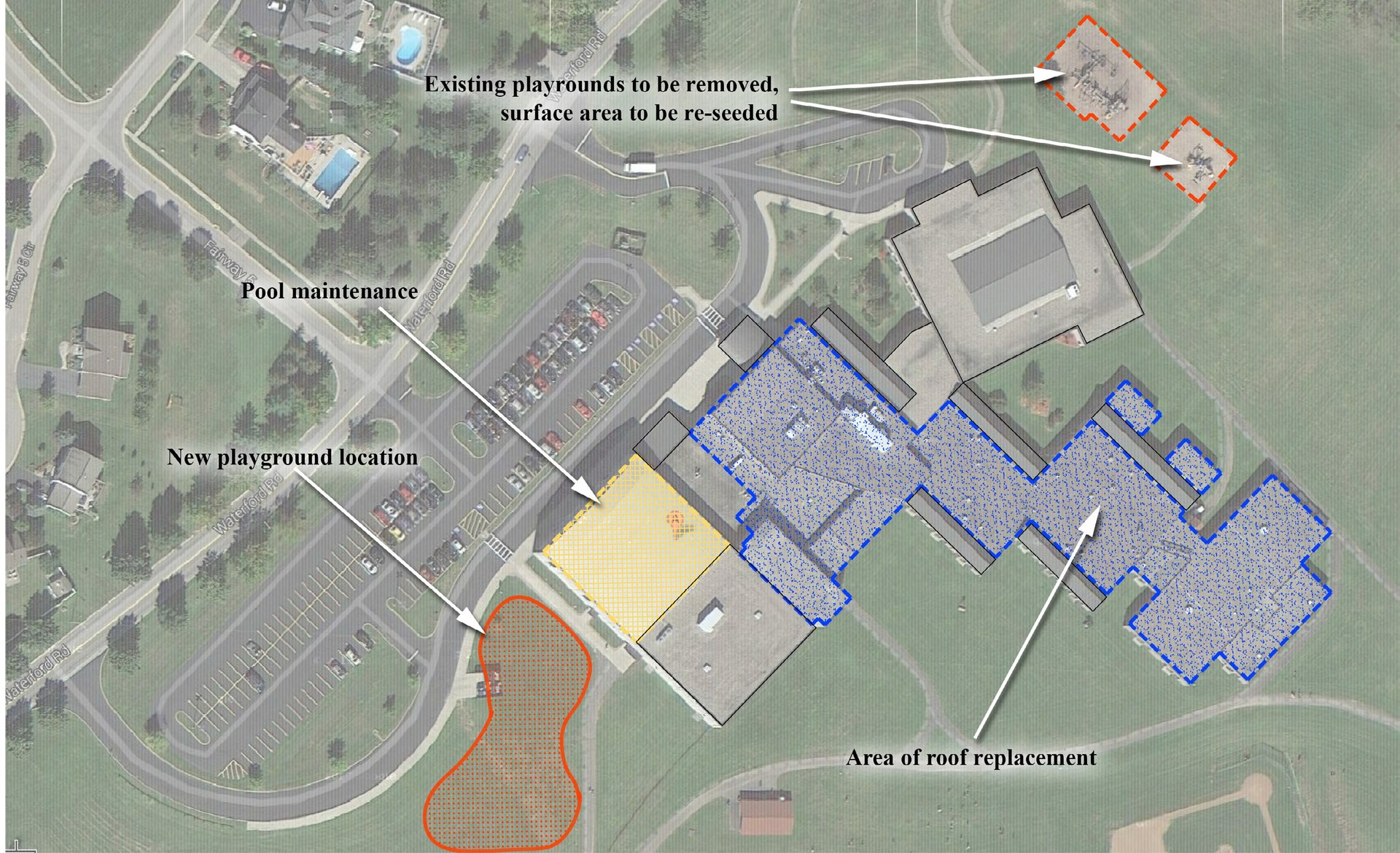 Map of work to be done at Elementary School