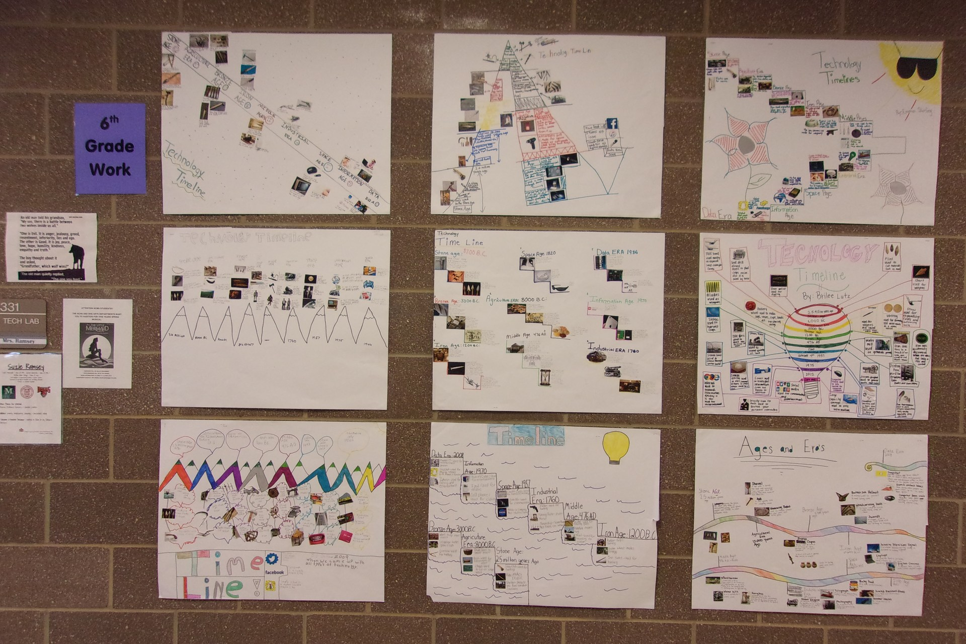 Student Projects on Technology Timeline