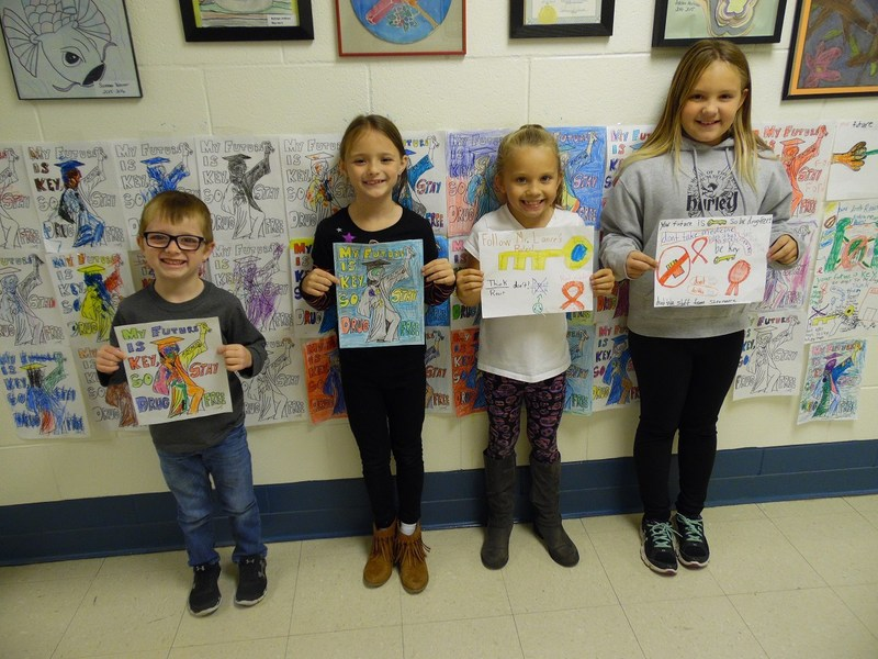 Red Ribbon Week poster contest winners from RCES.