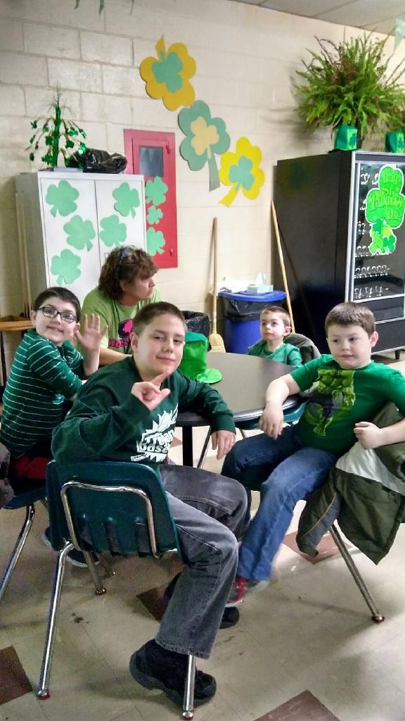 Students at St. Patrick's Day Party