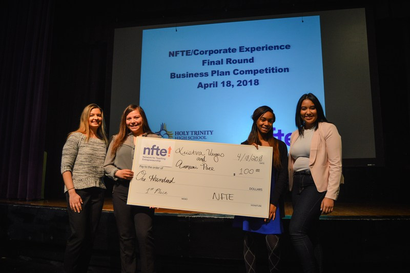 Armani Pace '19, Kristina Vargas '19 Win NFTE Business Plan Competition Featured Photo