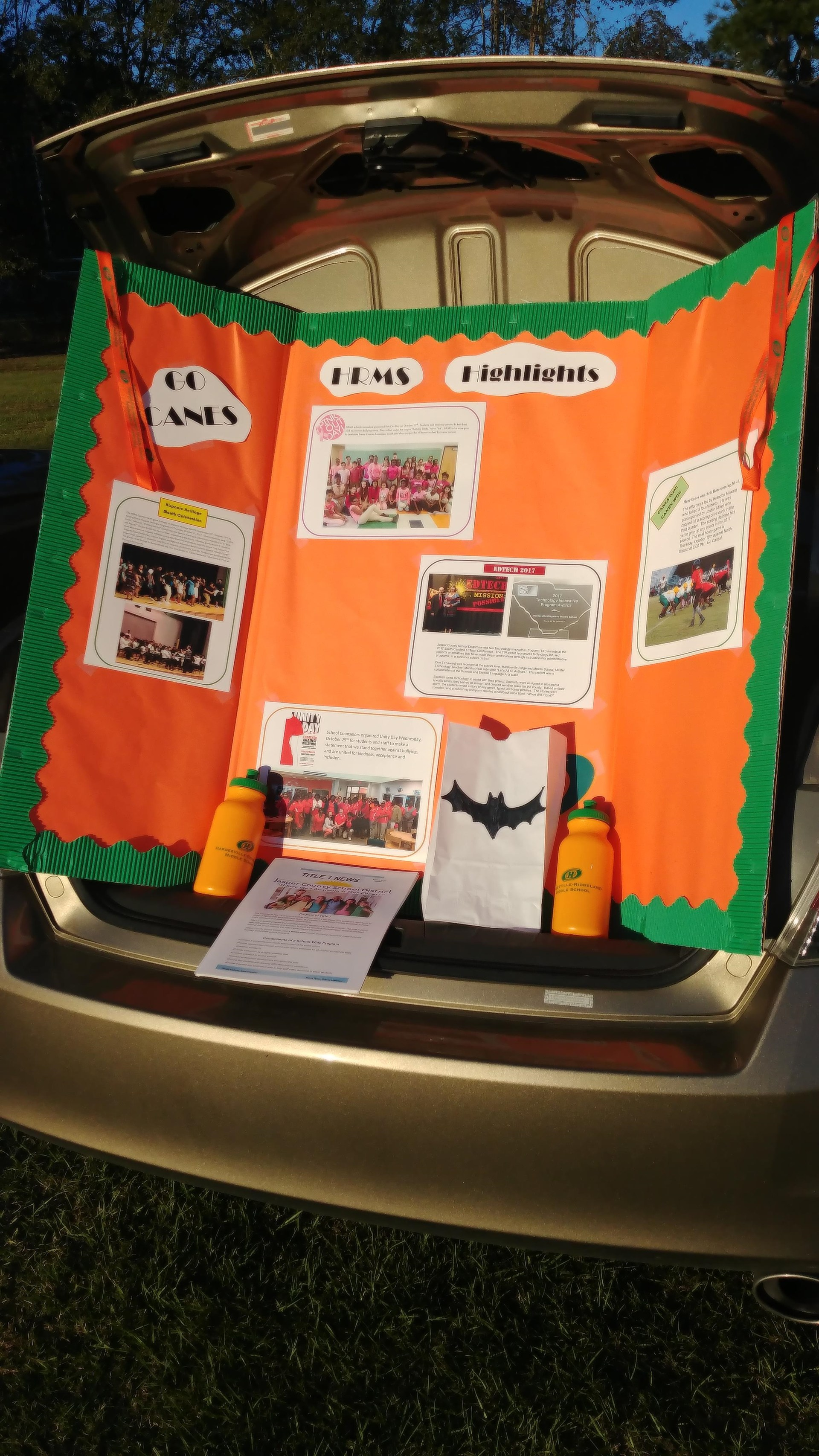 HRMS Title I at city's Trunk-or-Treat