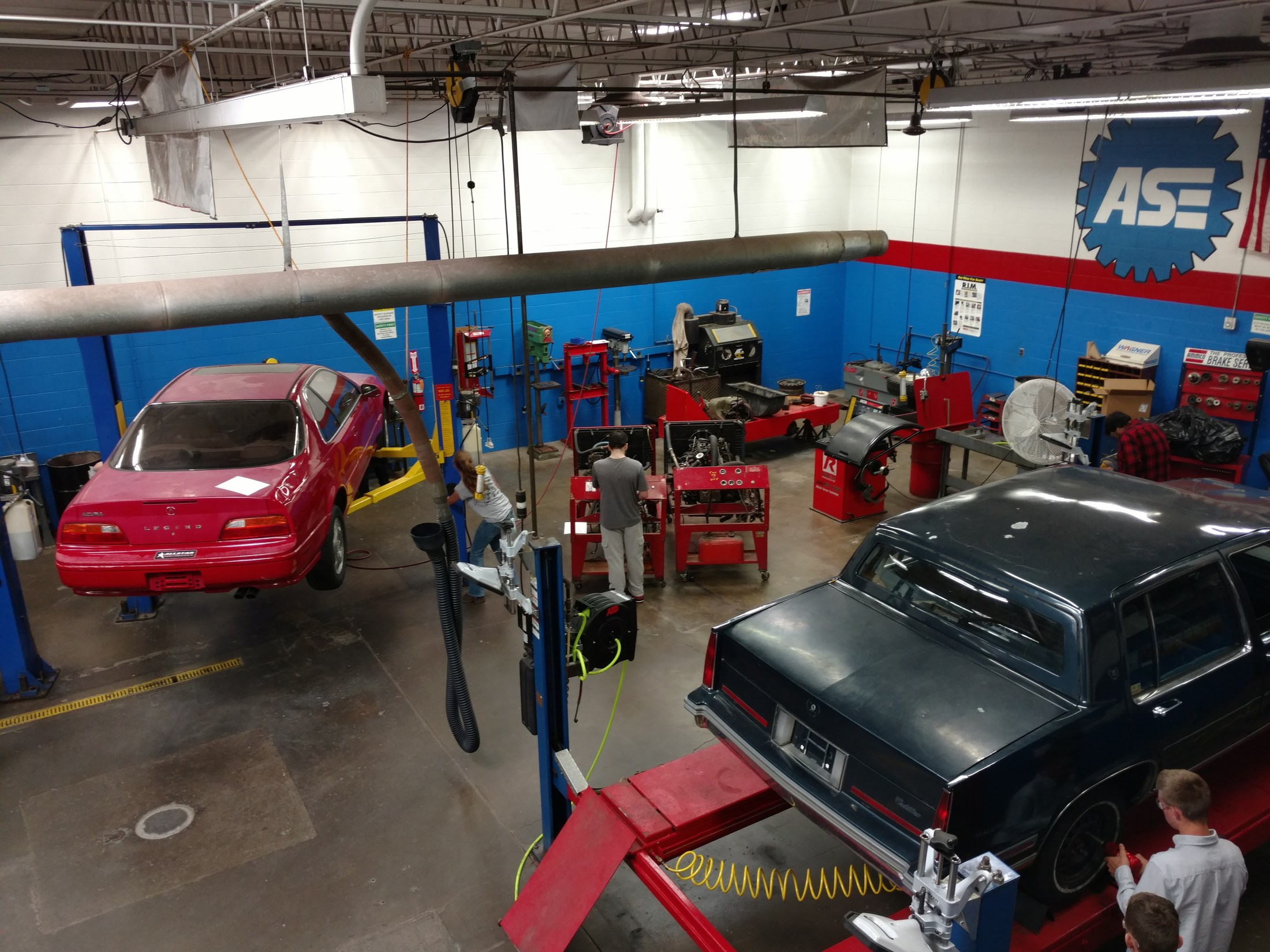 A view of the Tire Service area