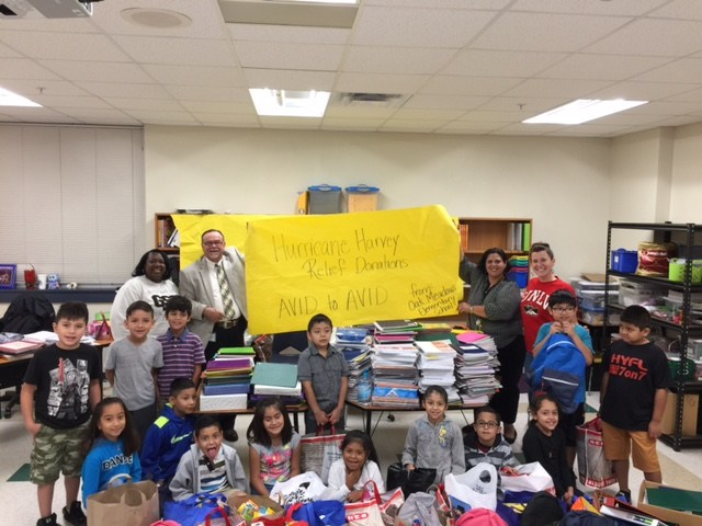 OME AVID Students Collect Supplies for School Hit by Hurricane Harvey Thumbnail Image