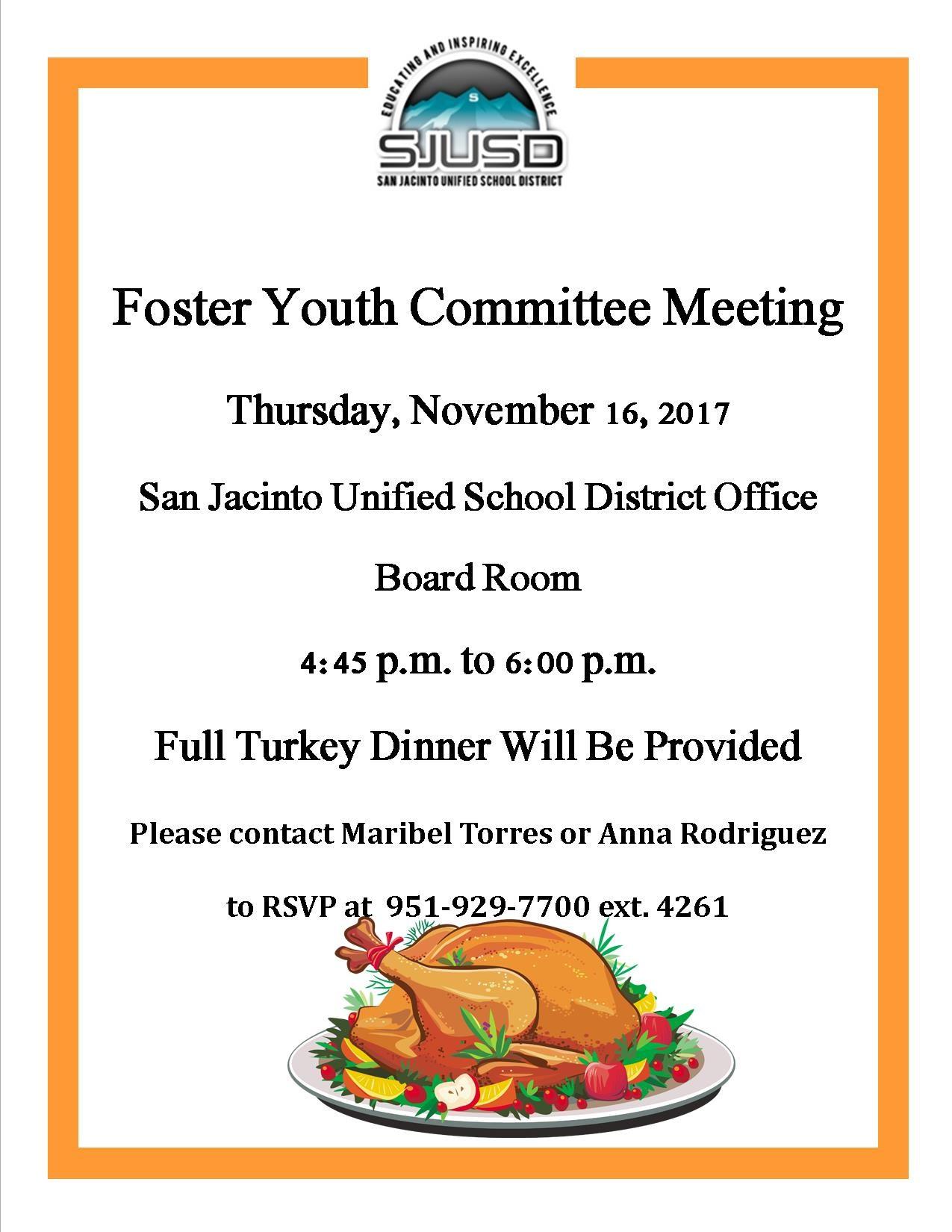 November Foster Committee Meeting