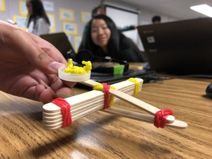 Student Science Fair project: catapult.