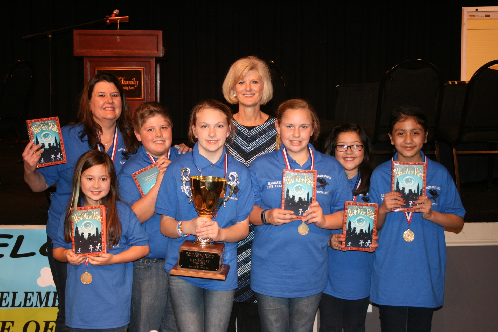 Millers Creek Elementary's Battle of the Books Team
