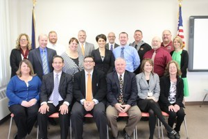 Photograph of District Administrators posed in a group