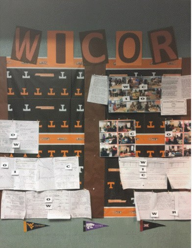a WICOR Bulletin Board.
