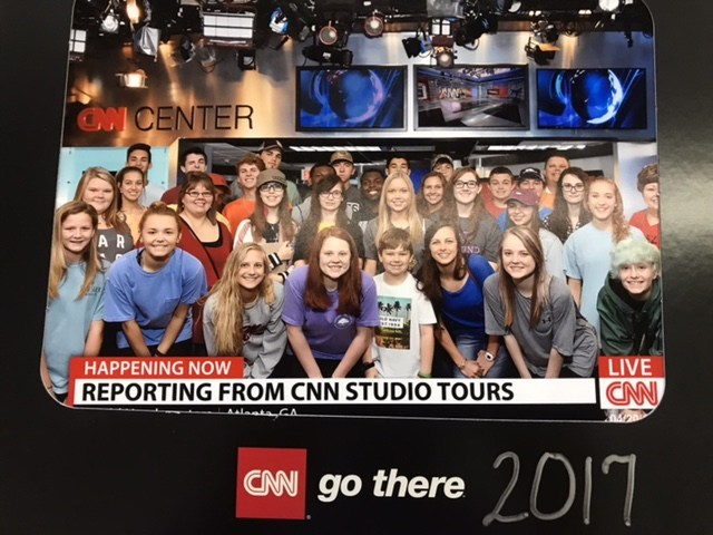 image of students at CNN studios