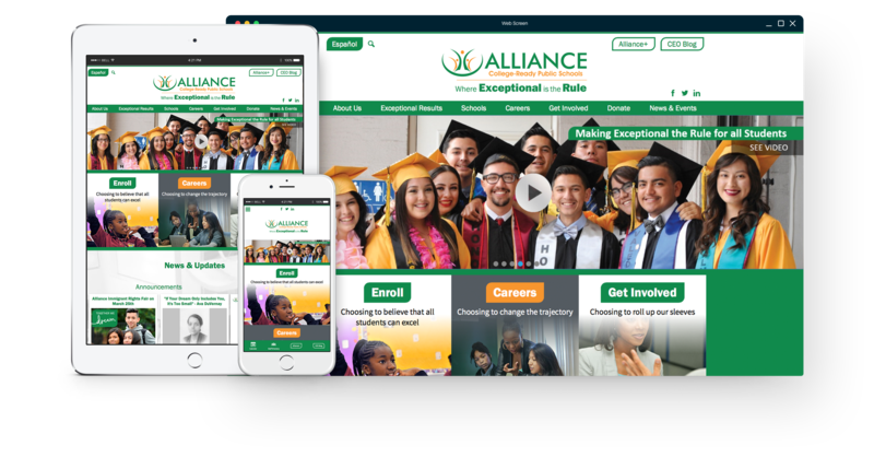 Responsive design for Alliance College-Ready Public Schools