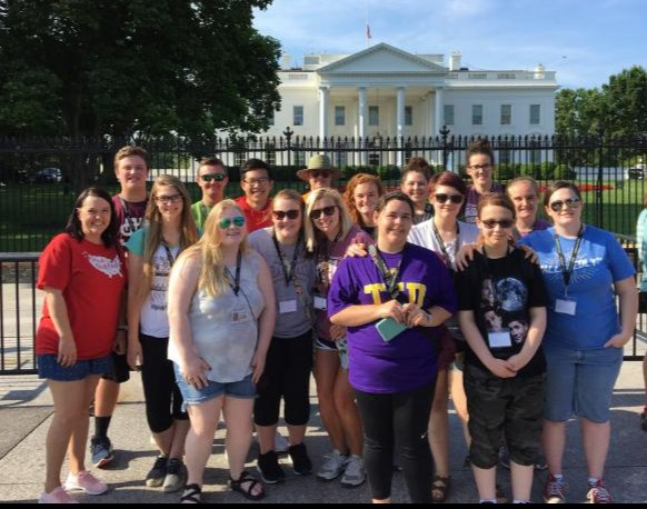 Education Talent Search students at the White House.