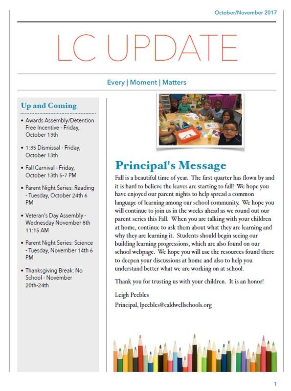 Picture of October/November Newsletter